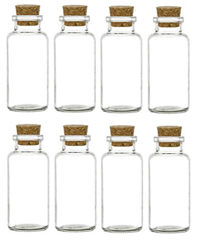 Nakpunar 8 pcs Glass Spice Vials with Cork - 6 oz ()