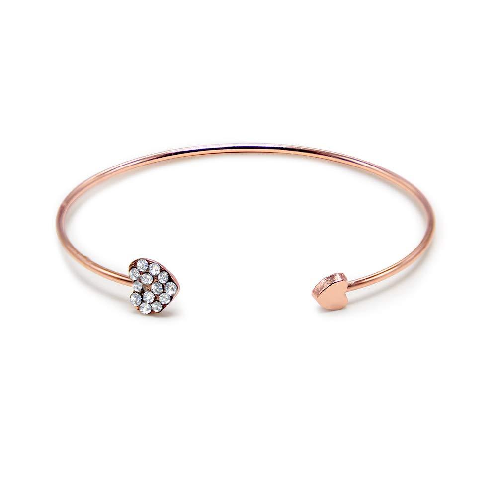 CoeurJonc Wikimiu En Taille Ouvert Bracelet Femme QExoredCBW