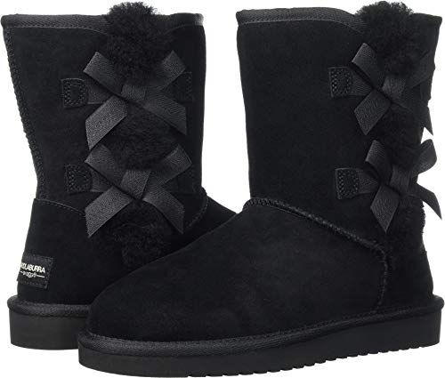 Koolaburra by UGG Women's Victoria Short Fashion Boot, Black, 08 M US