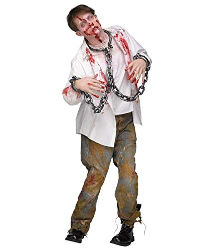 Fun World Men's Shackles Chains and Collar Costume Accessory, Silver, Standard for $<!--$10.15-->