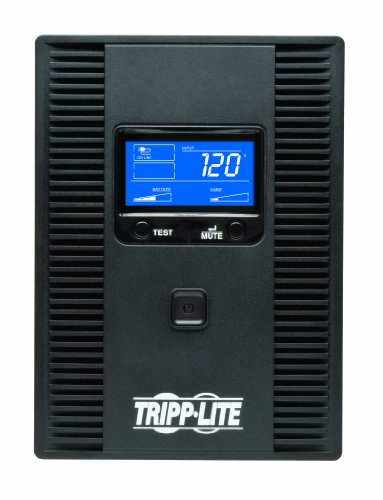 41azQRUqs L - Tripp Lite 1500VA 900W UPS Battery Back Up, AVR, LCD Display, Line-Interactive, 10 Outlets, 120V, USB, Tel & Coax Protection (SMART1500LCDT)