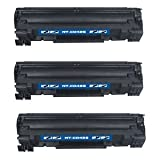 3-PACK HP 36A (CB436A) Compatible 2,000 Yield Black Toner Cartridge – HP LaserJet M1522N, M1522NF, P1505, P1505N, Office Central