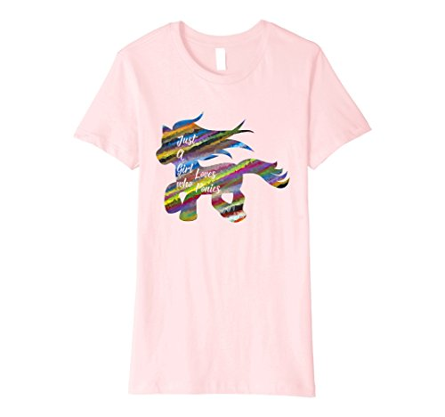 Womens I love my cute little pony T-shirt Fantasy Large Pink