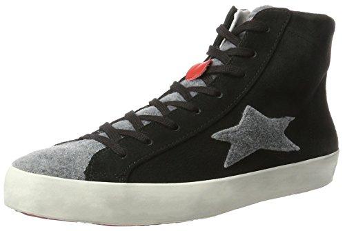 Unisex Adulto Adulto nero 1242 Ishikawa Sneaker Ishikawa 1242 Alto Collo a Alto a nero Sneaker Unisex Collo qqx0ZA
