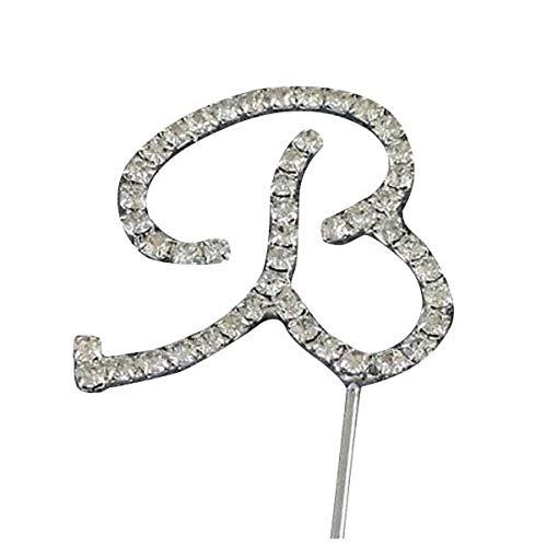 Cake Topper - Silver Alphabet Letter Rhinestone Crystal Monogram Wedding Cake Per Decoration B - First Figurines 30th Jurassic Gender Interracial Is Tree Couple Airplane]()