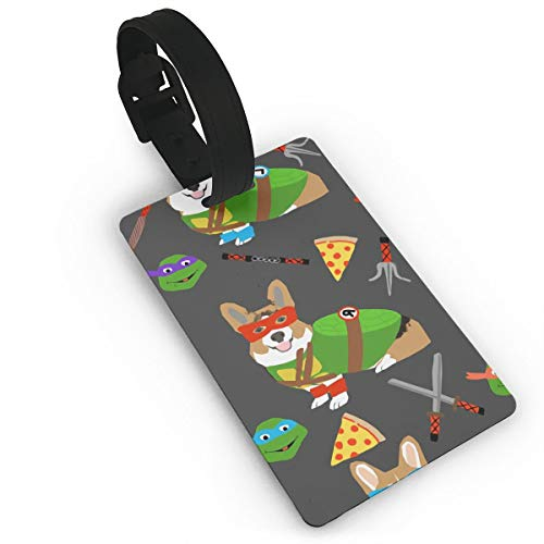 Rcorgi-tmnt-2 Funny Themed Printed Rolling Airplane Luggage Accessories