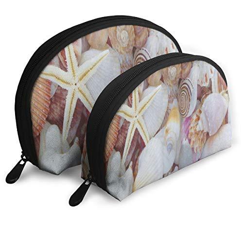 Makeup Bag Amazing Seashell Starfish Portable Shell Toiletry Organizer For Women Holiday Pack - 2