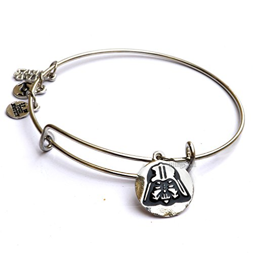 Darth Vader Bangle Bracelet - Star Wars Darth Vader Face Themed Charm Bangle