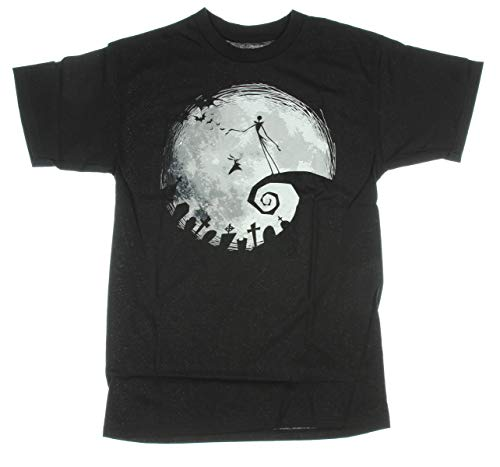 Nightmare Before Christmas Nightmare Moon Adult T-Shirt - Black (Small)]()