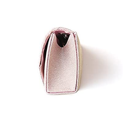 Day of Saturn Womens Evening Bag Envelope Clutch Purse Pleated Rhinestone Shine