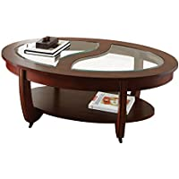 Steve Silver Company London Cocktail Table with Casters, 51 x 31 x 18