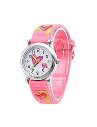 Pink Children Cartoon Watches Heart Waterproof Silicone Child Watch Quartz Kids Sport Wristwatches Boys Girl Analog Quartz Watch
