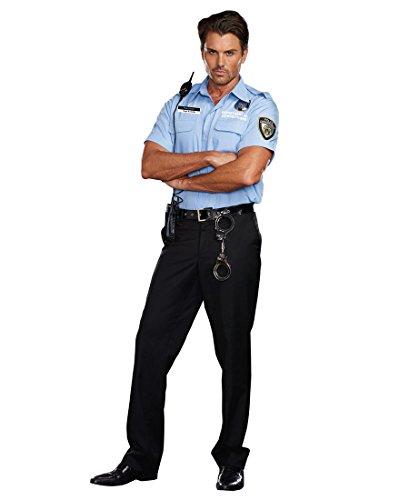 Prison Guard Costume (Dreamgirl Men's Prison Guard Hugh B. Guilty Costume, Blue, Large)
