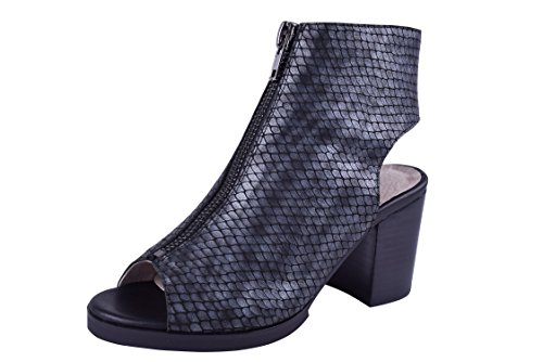 57b52b25870 Size 9-13 Women s Genuine Leather Chic Booties High Heeled Peep Toe Wide.  by addiction by fabia