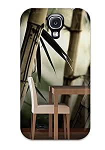 Premium YpnNLbU6aPrUw Case With Scratch-resistant/ Attractive Bamboo Tree Wall Mural Room Case Cover For Galaxy S4