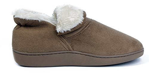AgeeMi Shoes Women Flat Lightweight Winter Lined Cotton Ankle Warm Slippers Brown EDOgfttGki