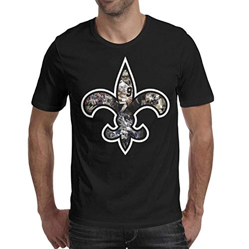 (Men's Team Logo Brees T-Shirt Cotton Short Sleeve Tshirts)
