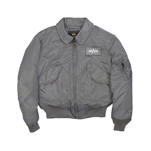- NEW US MADE CWU-45P Alpha Industries US Army Flight Military Bomber Jacket Gunmetal 2XL
