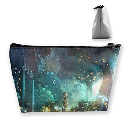 Trapezoidal Bag Fireflies And Girls Makeup Bag -