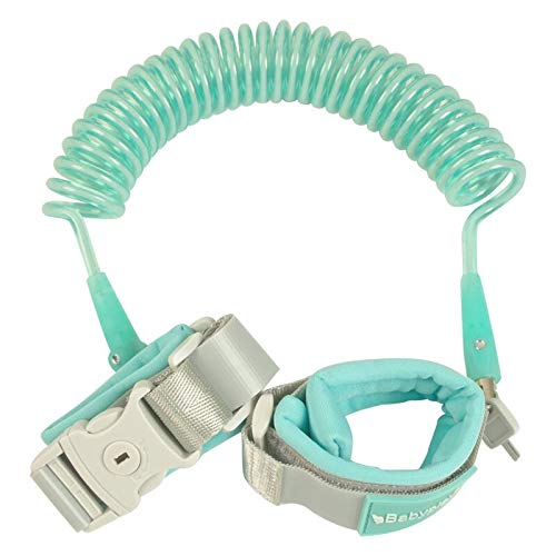Reflective Anti Lost Wrist Link, Toddler Safety Leash with Key Lock, Safety Wrist Leash for Toddlers, Babies & Kids 8.2 feet