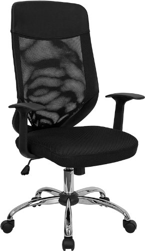 Amazoncom Flash Furniture High Back Black Mesh Executive Swivel