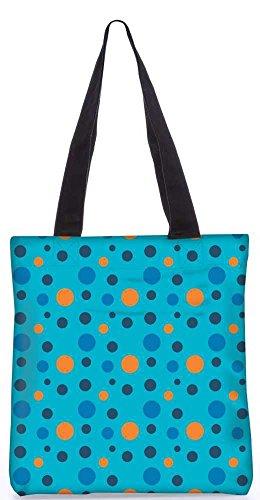 """Snoogg Bunten Flecken Blauen Muster-Einkaufstasche 13,5 X 15 In """"Einkaufstasche Dienstprogramm Trage Aus Polyester Leinwand"""