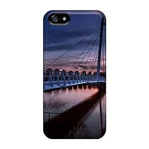 DaMMeke Perfect Tpu Case For Iphone 5/5s/ Anti-scratch Protector Case (beautiful Modern Pedestrian Bridge At Sundown)