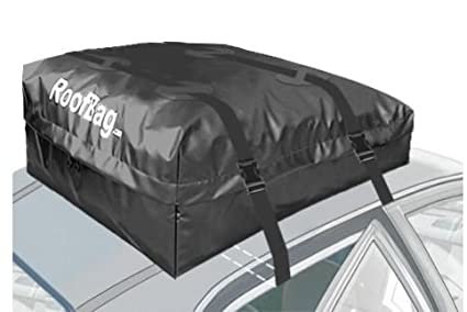 with Side Rails Cross Bars or No Rack RoofBag Rooftop Cargo Carrier Includes Heavy Duty Straps|2 Yr Warranty Fits All Cars Made in USA 100/% Waterproof-Premium Triple Seal for Maximum Protection