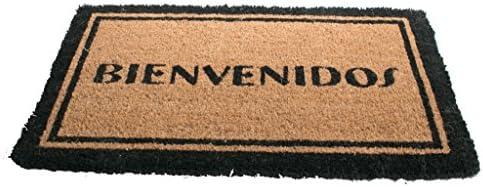 Imports Decor Printed Coir Doormat, Bienvenidos, 18-Inch by 30-Inch