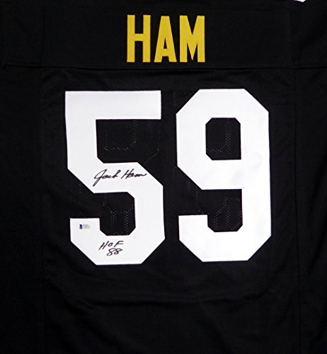 Pittsburgh Steelers Jack Ham Hand Signed Autographed Black Jersey