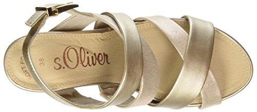 Gold 28304 Femme Oliver arrière Lt Or Bride s Comb Sandales 86xXw