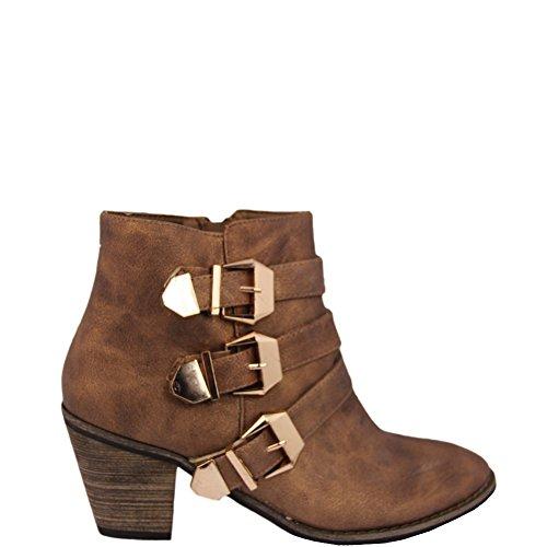 Unbekannt - Botas Chelsea Mujer Marrón - marrón
