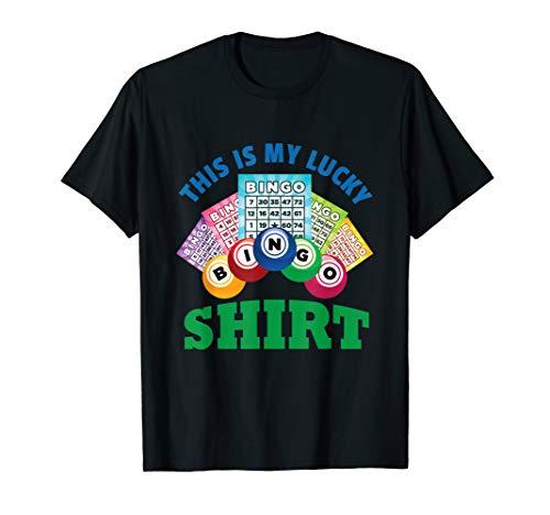 (Fun Lucky Bingo Gambling Night Balls Cards T Shirt Tee Gift)
