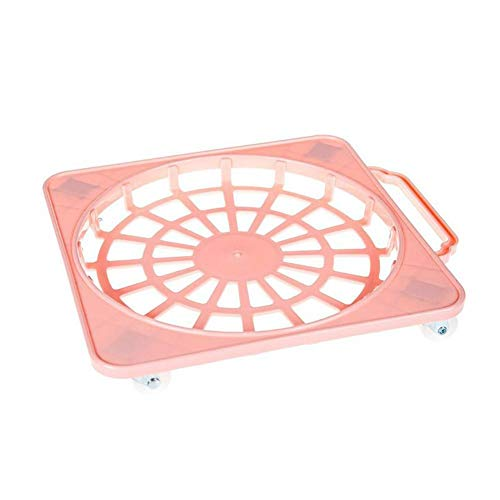 Gas Patio Caddie - Plastic Plant Caddy with Wheels, Gas Tank Carrier Base Liquefied Gas Cylinder Dolly Tray Planter Trolley Casters