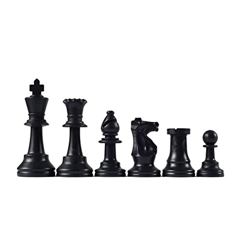 Wholesale Chess Triple Weighted Staunton Colored Pieces (Black) (Staunton Weighted Chess Pieces)