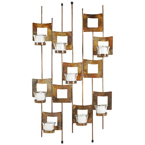 (Safavieh Wall Art Collection Art Deco Squares Candle Holder Wall)