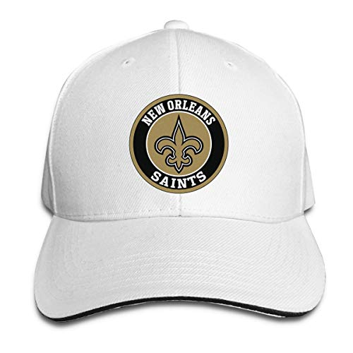 New Orleans Saints Baseball Cap Classic Adjustable Plain Hat N-F-L Trucker Hat,White (Best Nfl Fantasy Draft App)