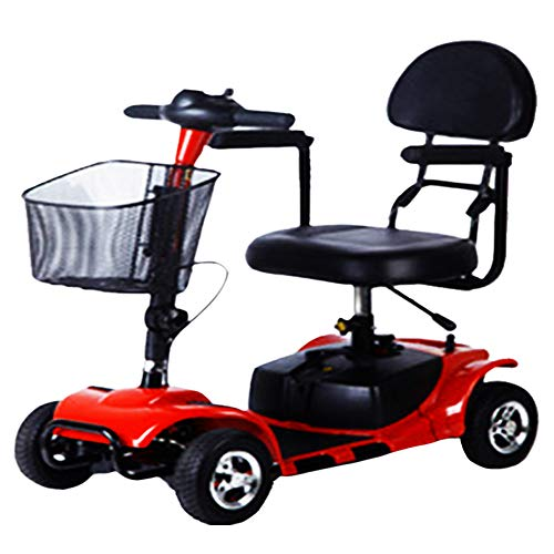 Scooter de Movilidad Portátil de 4 Ruedas de Viaje de Coche Scooter Eléctrico Plegable con Asiento Power Scooter Motorizado para Adultos