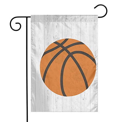 Wood Basketball Sports Clipart Garden Flags Home Indoor & Outdoor Holiday Decorations,Waterproof Polyester Yard Decorative \r\nFor Game Family Party Banner