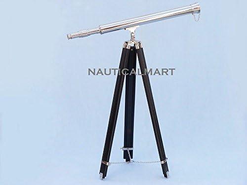 Nautical Floor Standing Chrome Harbor Master Telescope 60 inch By NauticalMart