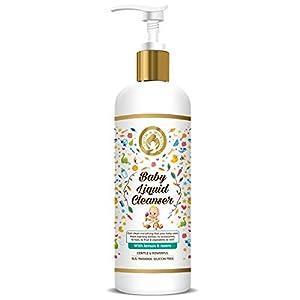 Mom & World Baby Liquid Cleanser 500ml – Anti Bacterial wash for Bottle, Utensils, Vegetables, Fruits Cleanser – No SLS…