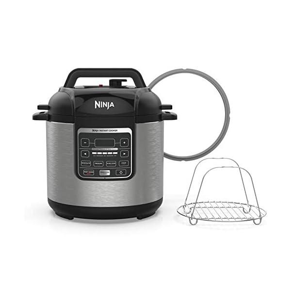 Ninja Instant, 1000-Watt Pressure, Slow, Multi Cooker, and Steamer with 6-Quart Ceramic Coated Pot & Steam Rack (PC101… 1
