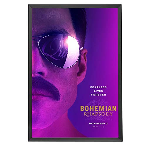 SnapeZo Black 27x40 Poster Frame for Movie Posters, 1.25 Inch Aluminum Profile, Front-Loading Snap Frame, Wall Mounting, Professional Series for One Sheet Movie Posters