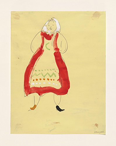 The Museum Outlet - Marc Chagall - Costume for Peasant, costume design for Aleko, Stretched Canvas Gallery Wrapped. 58x78