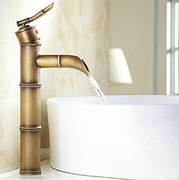 Antik Bronze schlichten Bambus Stil Badezimmer Waschbecken ...