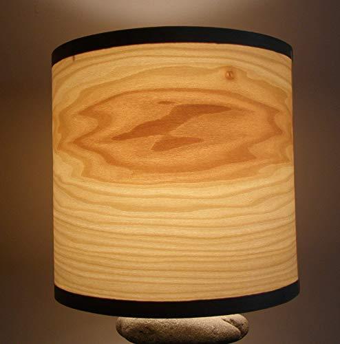 - Real wood poplar veneer drum shade