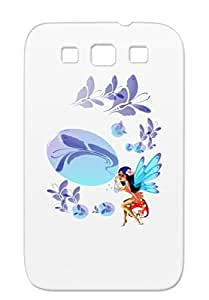 Butterfly Bubbles TPU For Sumsang Galaxy S3 Navy Art Design Butterflies Fairies Fairy Tales Butterfly Fantasy Fantasy Bubbles Case Cover