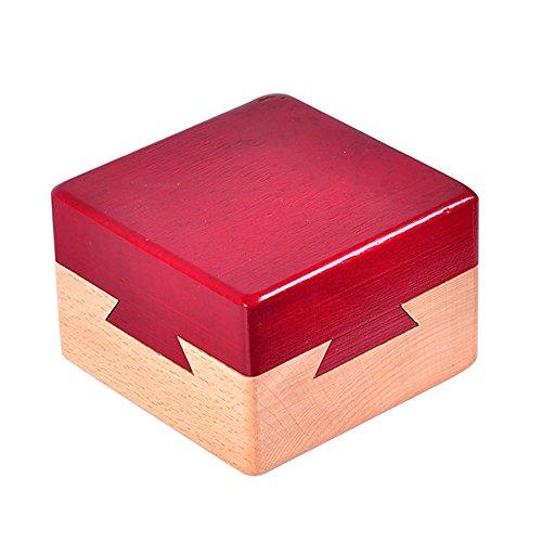 Ocamo Creativa caja de madera secreta para regalos, para joyería