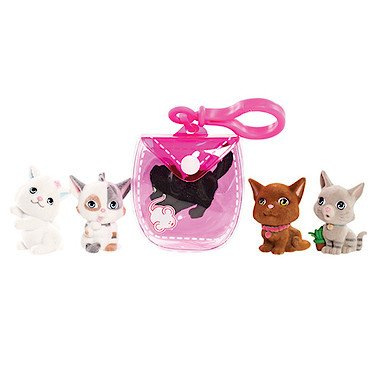 - Kitty In My Pocket Kitties & Pink Clip On Pouch - 5 Kitties Included