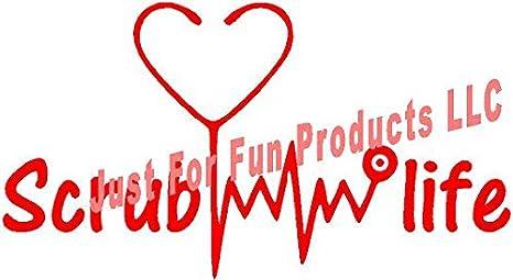 Amazon.com: Just For Fun 7.5 x 4 Scrub Life Nurse RN CNA ...